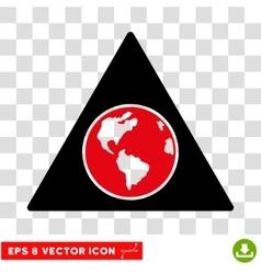 Terra Triangle Eps Icon vector image vector image