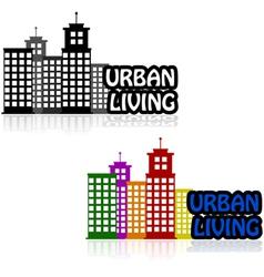Urban living vector image vector image