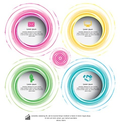 Circle colorful can be used for workflow layout vector