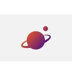 planet logo Satellite design template vector image
