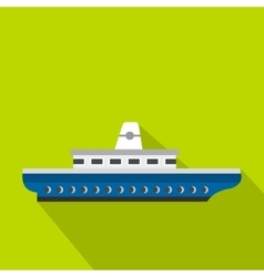 Passenger ship icon flat style vector