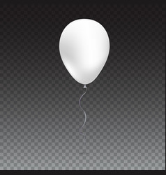 Inflatable air flying balloon isolated on white vector