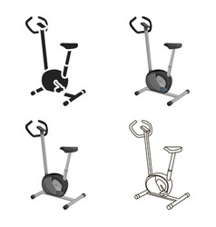 exercise bike icon cartoon single sport icon from vector image