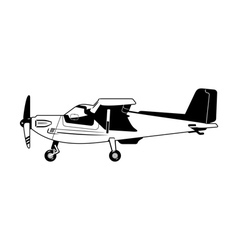 private aircraft vector image