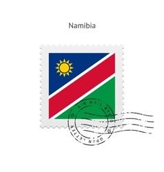 Namibia flag postage stamp vector