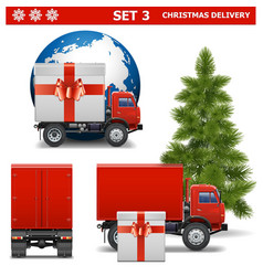 Christmas Delivery Set 3 vector image