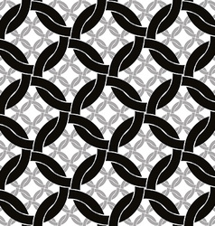Circles netting seamless pattern retro style vector
