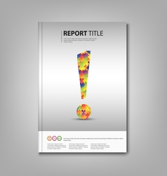 Brochures book with colored exclamation template vector image