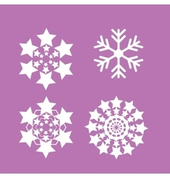 Snowflakes set snow flake icon vector