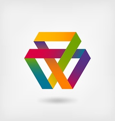 Mobius strip multi-color symbol vector