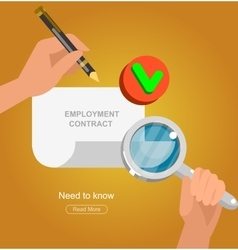 Businessman handshake on contract vector