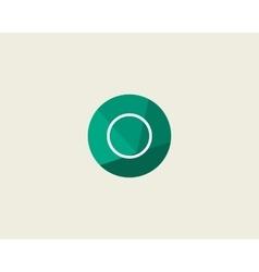 Abstract letter o logo design template dot line vector