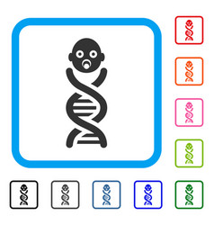 Baby genes framed icon vector