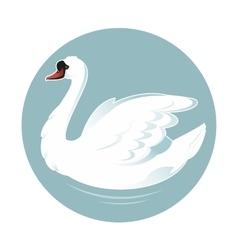 Cartoon swan vector image