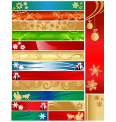 Christmas holiday banners vector image vector image