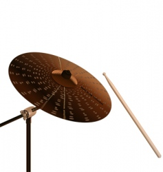 crash cymbal vector image