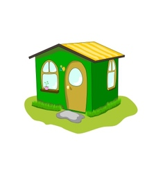 fantastic green lodge on a white background vector image vector image