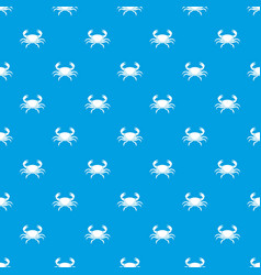 Fresh crab pattern seamless blue vector