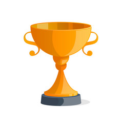 golden metallic trophy cup isolated icon vector image vector image