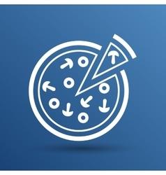 Handmade pizza logo concept vector