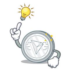 Have an idea tron coin character cartoon vector