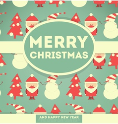 Merry christmas and new years card vector