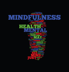 Mindfulness and mental health improvement text vector