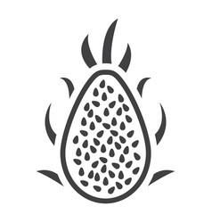 Pitaya solid icon dragon fruit and tropical vector