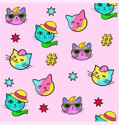 pop art style stickers vector image