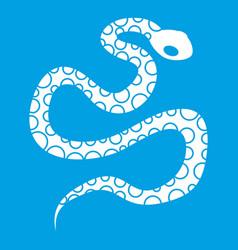 Python snake icon white vector