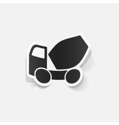 realistic design element Cement Mixer vector image
