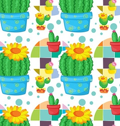 Seamless cactus vector image vector image