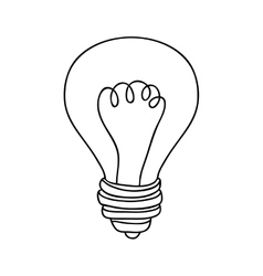 silhouette contour bulb with resistance vector image