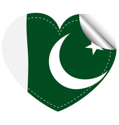 sticker design for pakistan flag vector image vector image