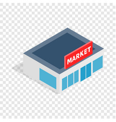 Supermarket building isometric icon vector