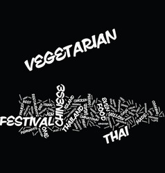 thailand s vegetarian festival text background vector image vector image