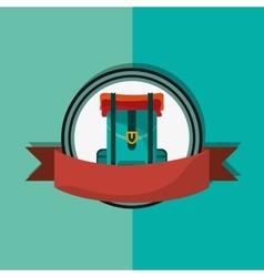 travel backpack emblem image vector image