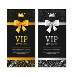 Vip invitation and card set vector