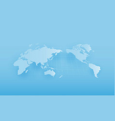 world map global warming vector image vector image