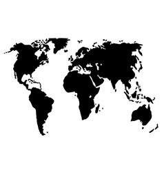 World map isolated on white vector image vector image