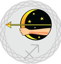 zodiac signs sagittarius vector image