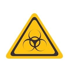 Biohazzard yellow warning sign vector