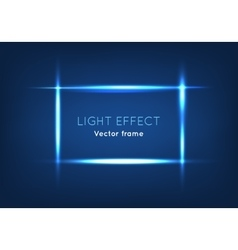 Blue line frame made with light effect vector