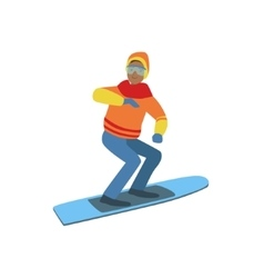 Guy on snowboard winter sports vector