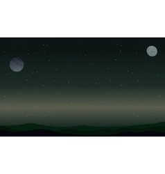 Landscape of star and planet space vector image