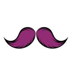 Mustache icon cartoon vector