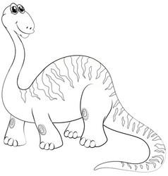 Animal outline for long neck dinosaur vector