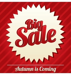 Big sale tag sticker Icon for special offer vector image