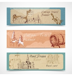 Old city banners vector