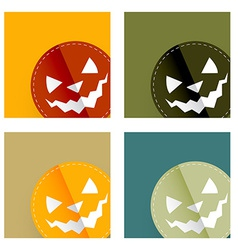 Halloween card design vector